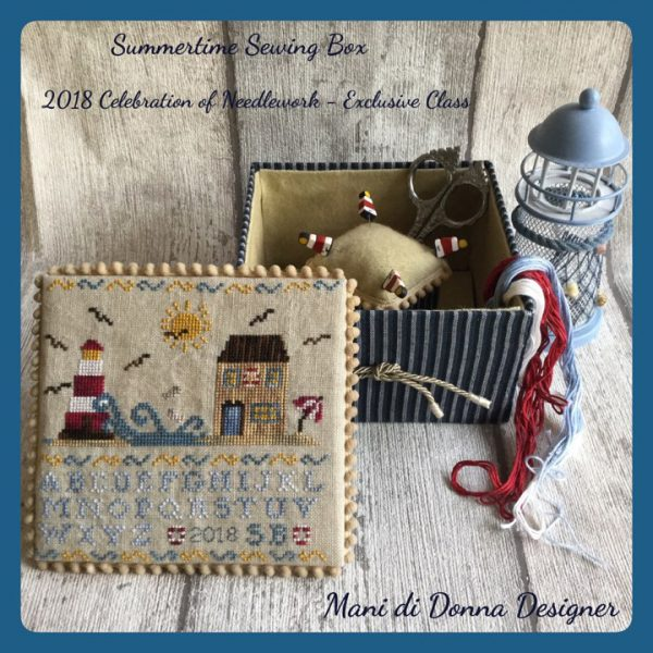 Summertime Sewing Music Box needlework project